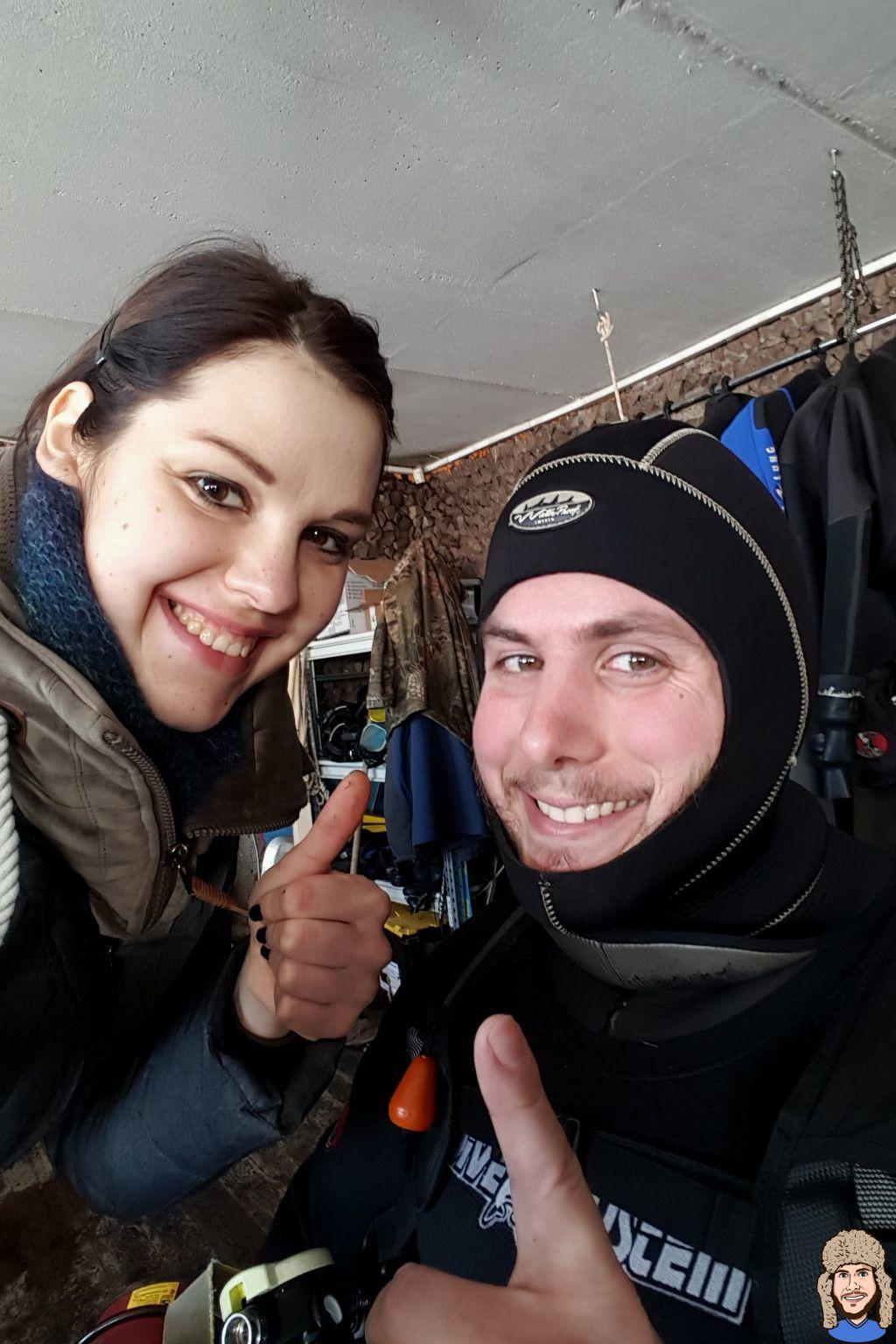 Schwabski bei der Vorbereitung zum Eistauchgang im Baikalsee
