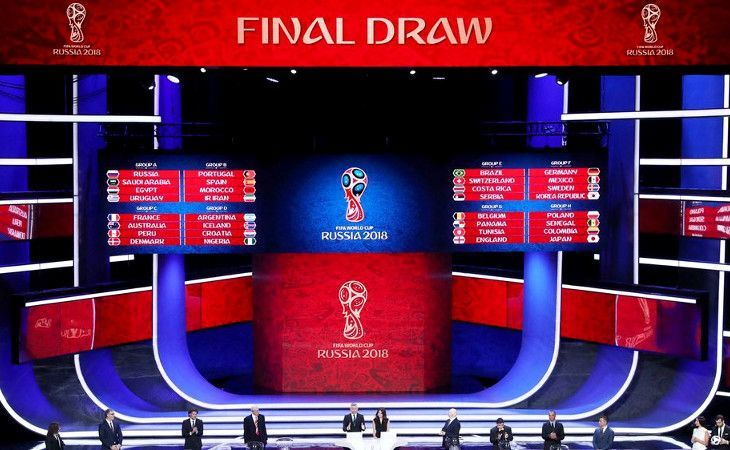 Auslosung der Gruppen für die Fussball WM 2018 in Russland