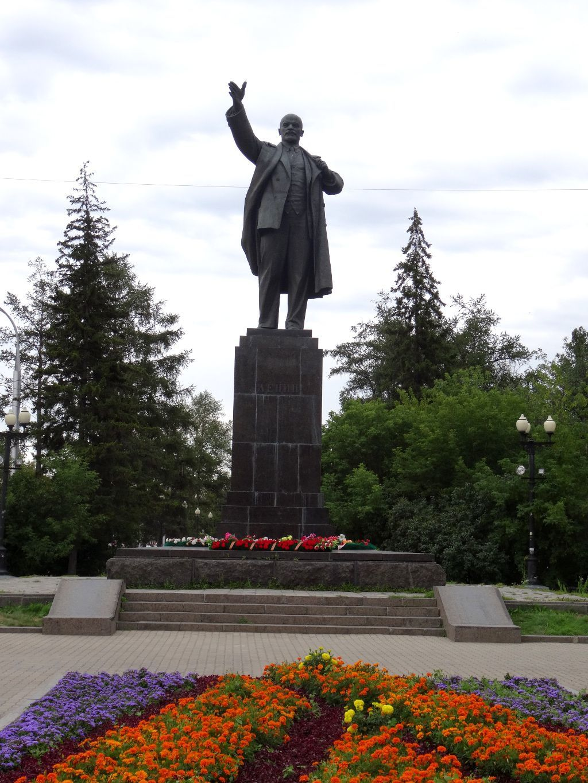 Lenin Statue an der grünen Linie in Irkutsk