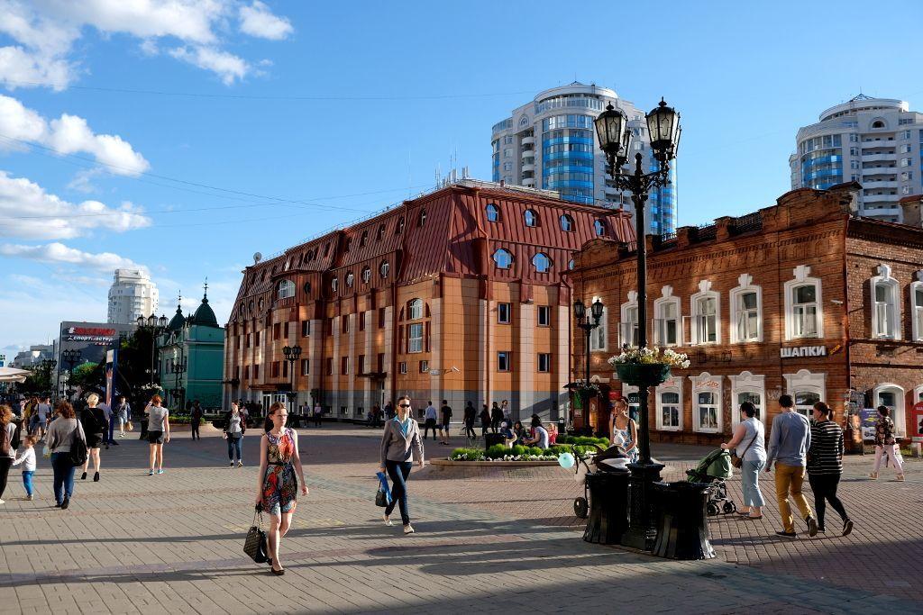 Fußgängerzone in Jekaterinburg