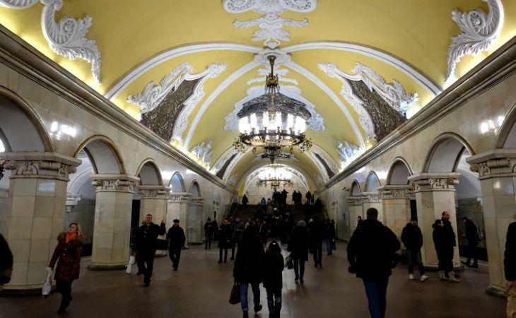 Metrostation Komsomolskaya in Moskau