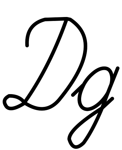 Buchstabe Д д [de] Schreibschrift russisches Alphabet