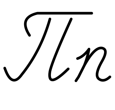 Buchstabe П п [pe] Schreibschrift russisches Alphabet
