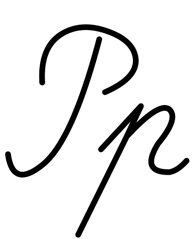 Buchstabe Р р [er] Schreibschrift russisches Alphabet