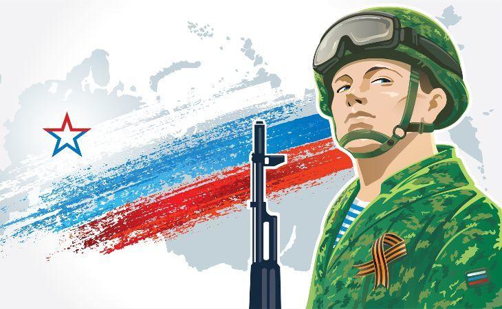 Russischer Vaterlandsverteidiger Soldat