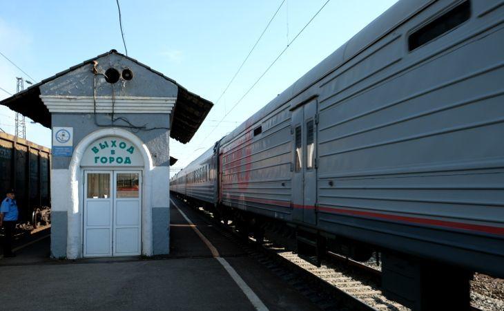Ankunft der Transsibirischen Eisenbahn in Angarsk