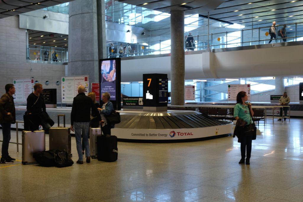 Gepäckband am Flughafen Pulkowo in Sankt Petersburg
