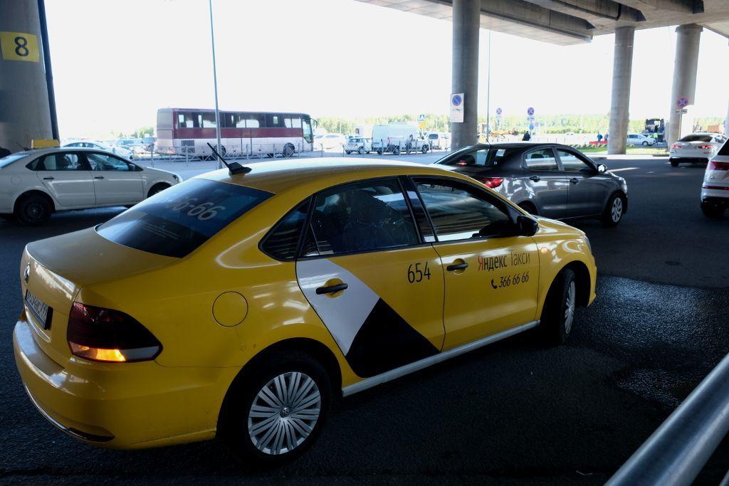 Yandex Taxi am Flughafen Pulkowo in Sankt Petersburg