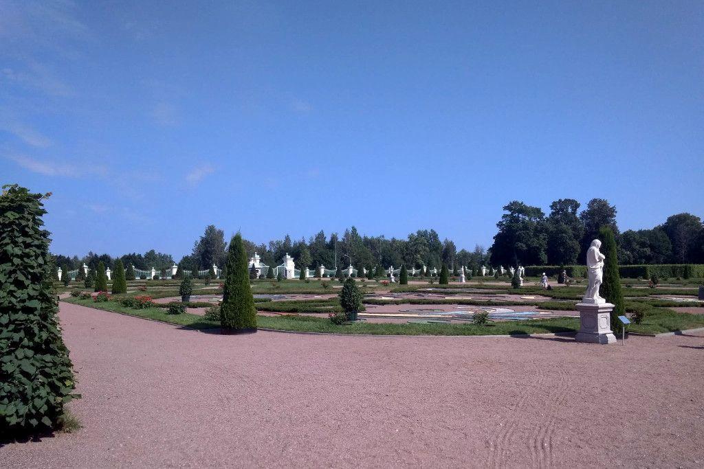 Gartenanlage in Strelna bei Sankt Petersburg