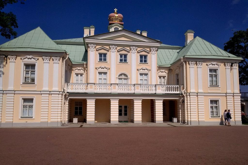 Palastgebäude in Oranienburg bei Sankt Petersburg