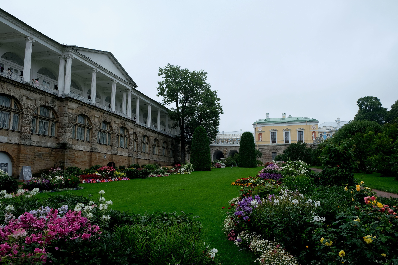 Parkanlage beim Katharinenpalast in Puschkin bei Sankt Petersburg