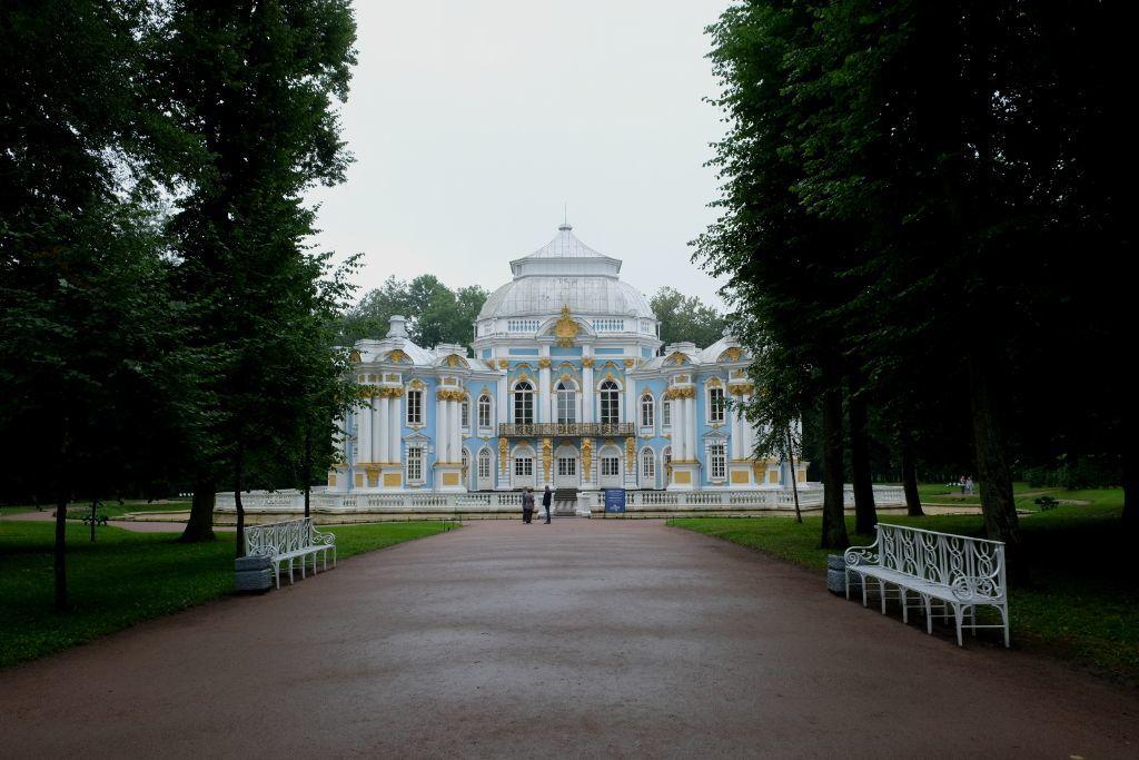 Schlösschen in der Parkanlage beim Katharinenpalast in Puschkin bei Sankt Petersburg