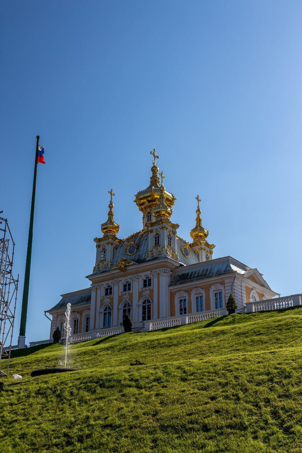 Schlösschen im unterer Park in Peterhof bei Sankt Petersburg