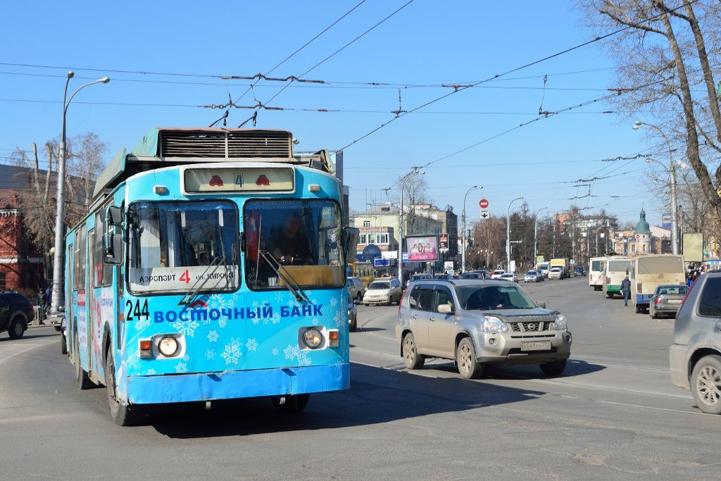 Trolleybus in Irkutsk