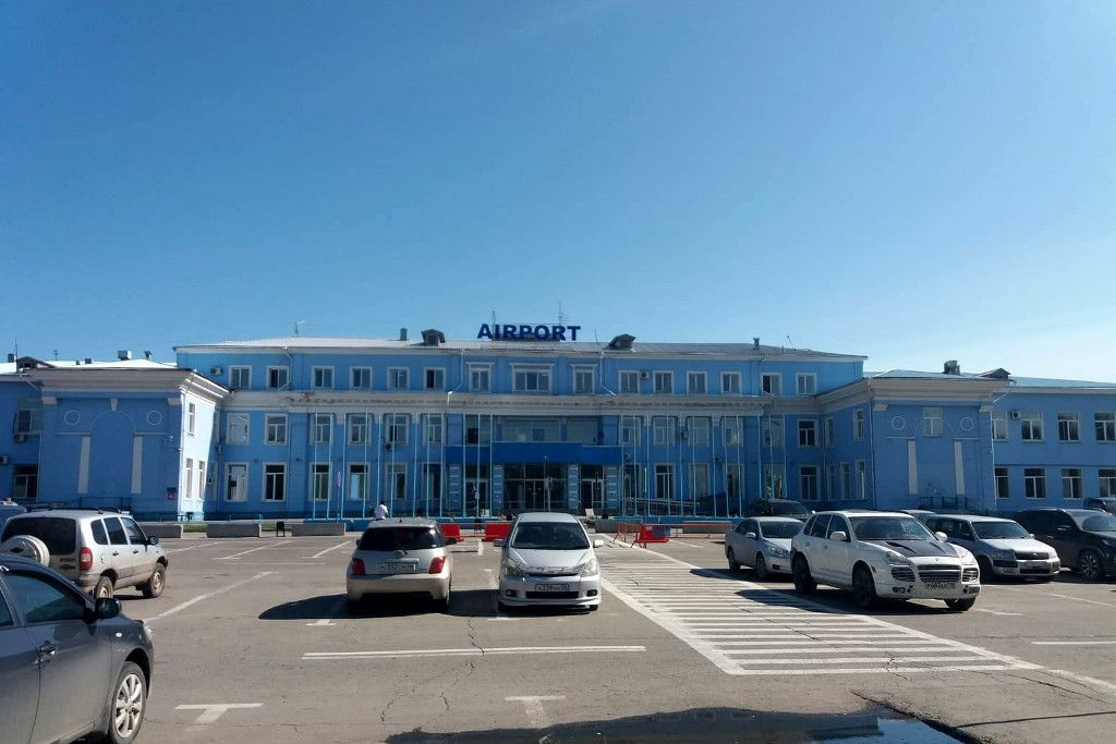 Das internationale Terminal des Flughafens in Irkutsk