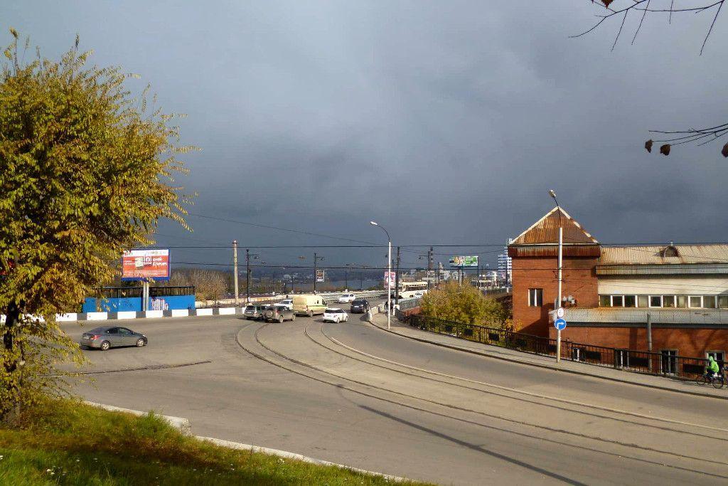 Weg vom Hauptbahnhof ins Zentrum von Irkutsk