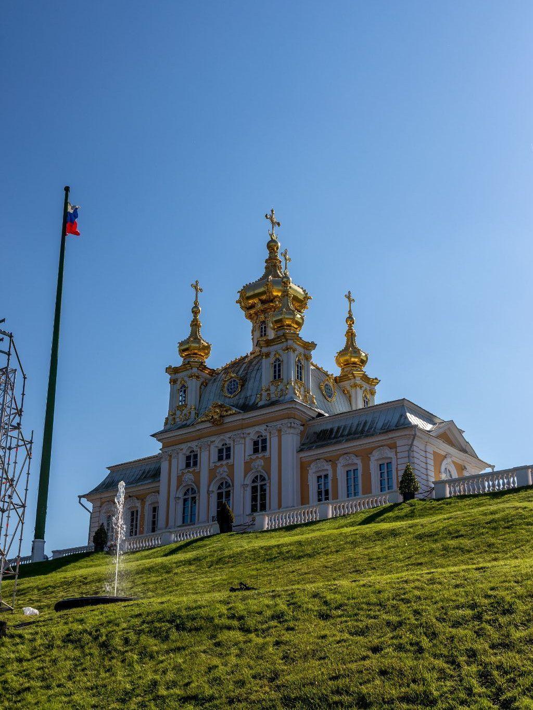 Schlosskirche im Schloss Peterhof bei Sankt Petersburg