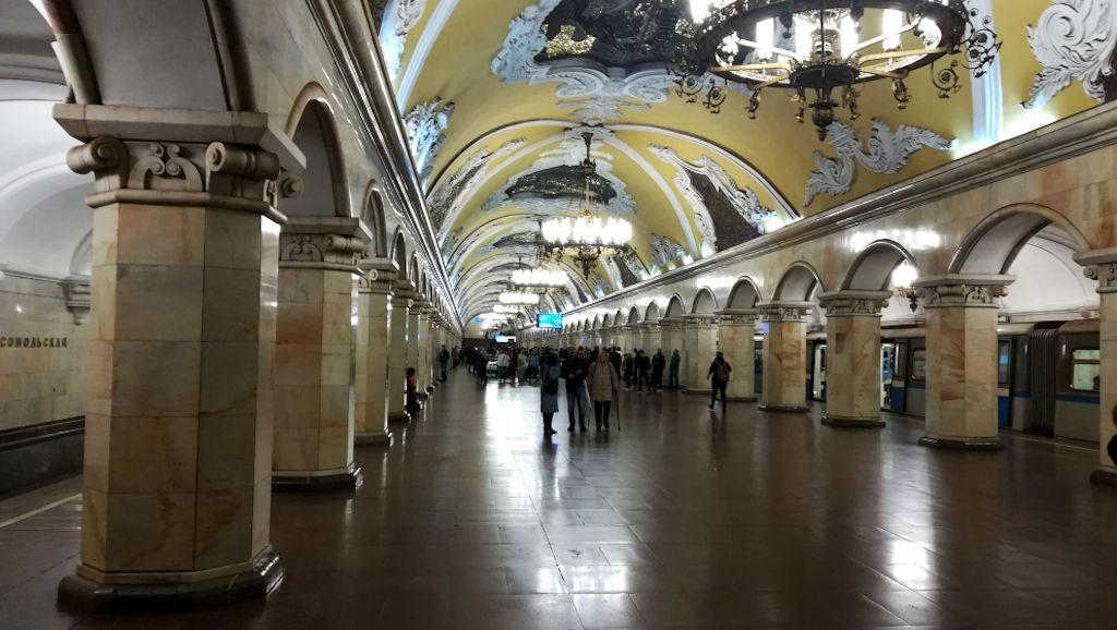 Metrostation Komsomolskaja in Moskau