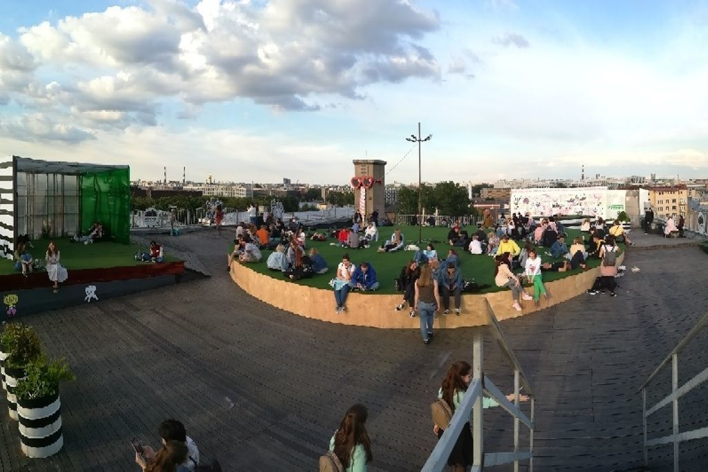Aussichtsplattform des ETAGI Loft Kulturzentrums