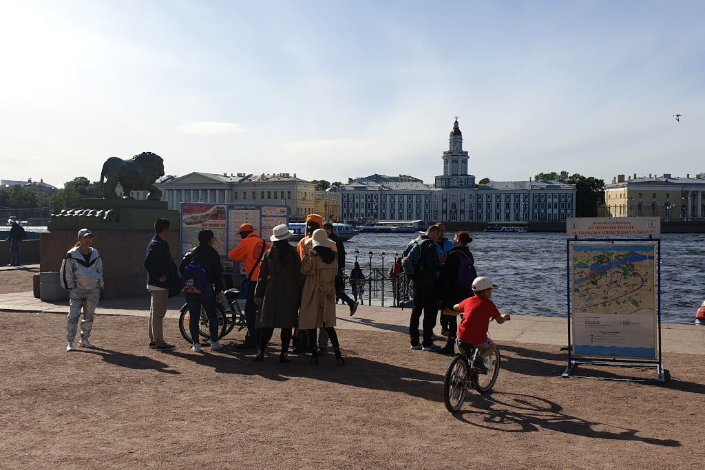 Anlegestelle der Bootstouren in Sankt Petersburg