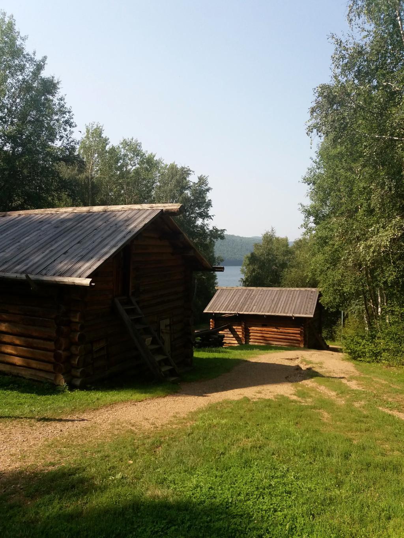 Wassermühlen im Taltsy Freilichtmuseum bei Irkutsk