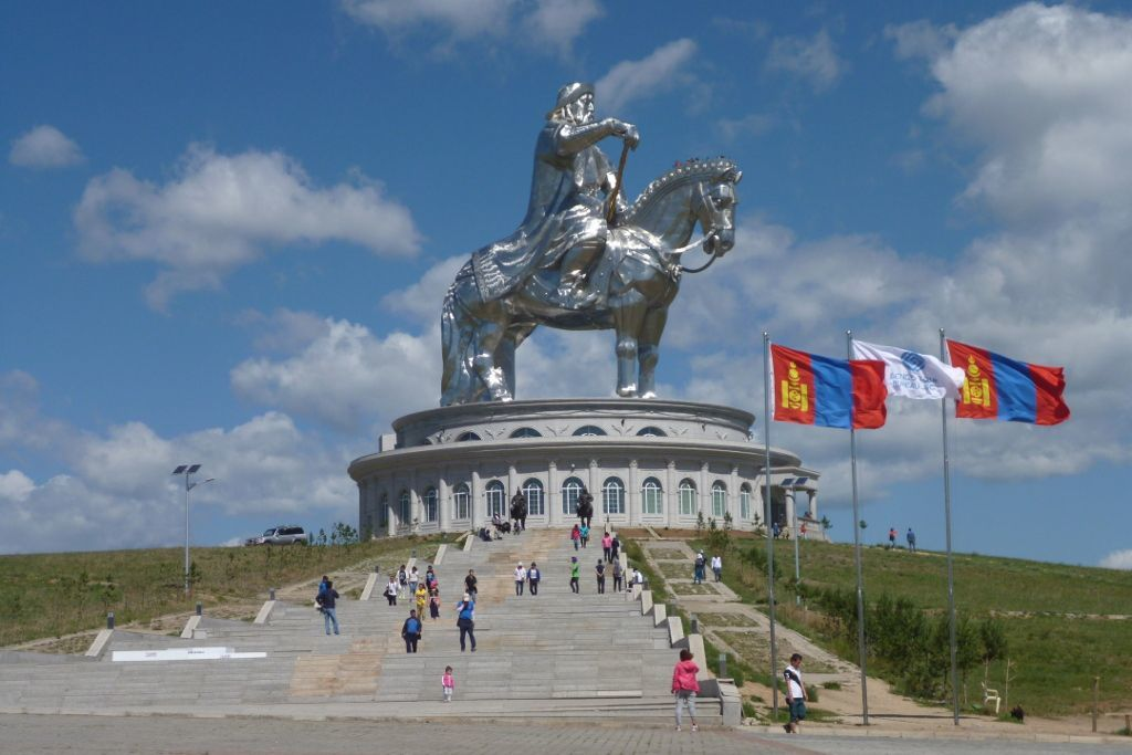Dschingis Khan Statue in Ulan-Bator
