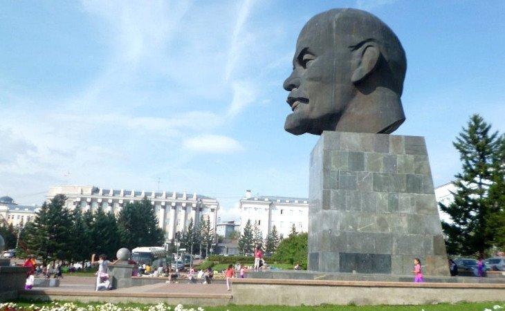 Lenin Kopf Statue in Ulan-Ude
