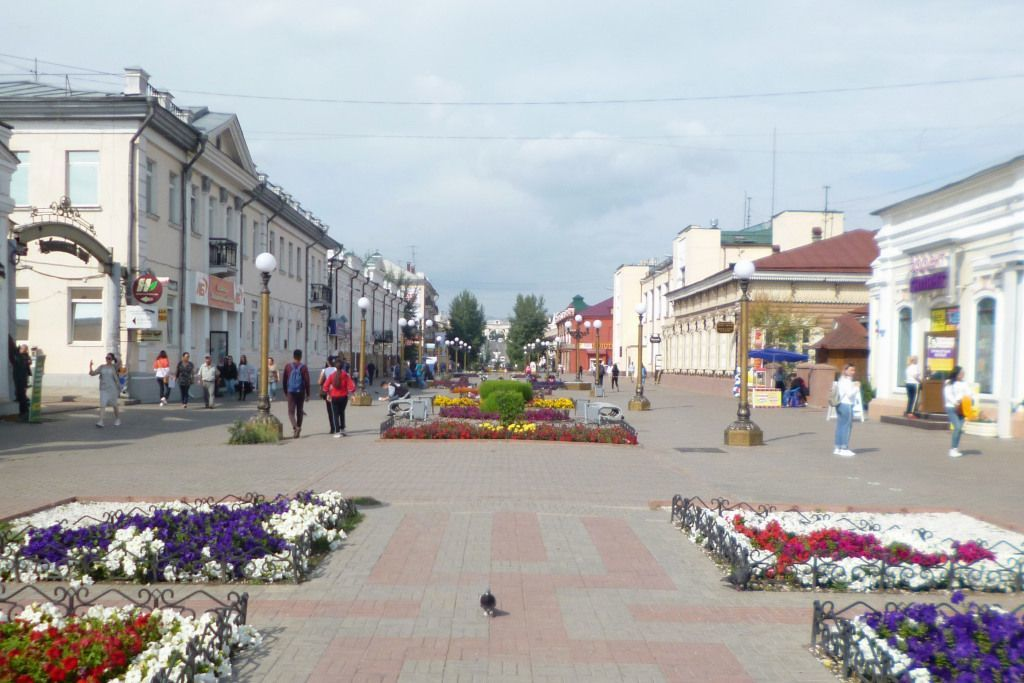 Burjatischer Arbat bzw. Leninstraße in Ulan-Ude