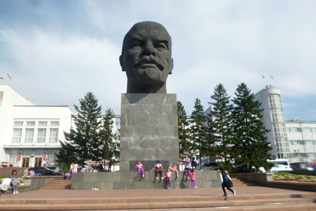 Lenin Kopf Denkmal in Ulan-Ude