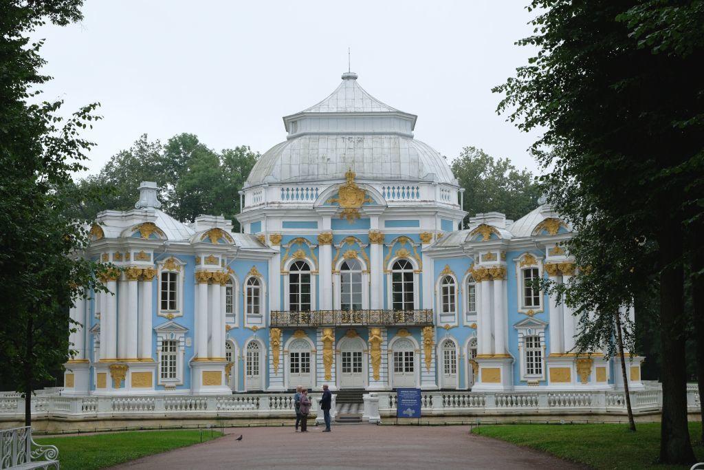 Eremitage Palast neben dem Katharinenpalast in Puschkin bei Sankt Petersburg