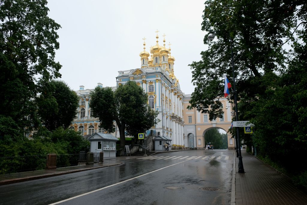 Kassenbereich zum Katharinenpalast in Puschkin bei Sankt Petersburg
