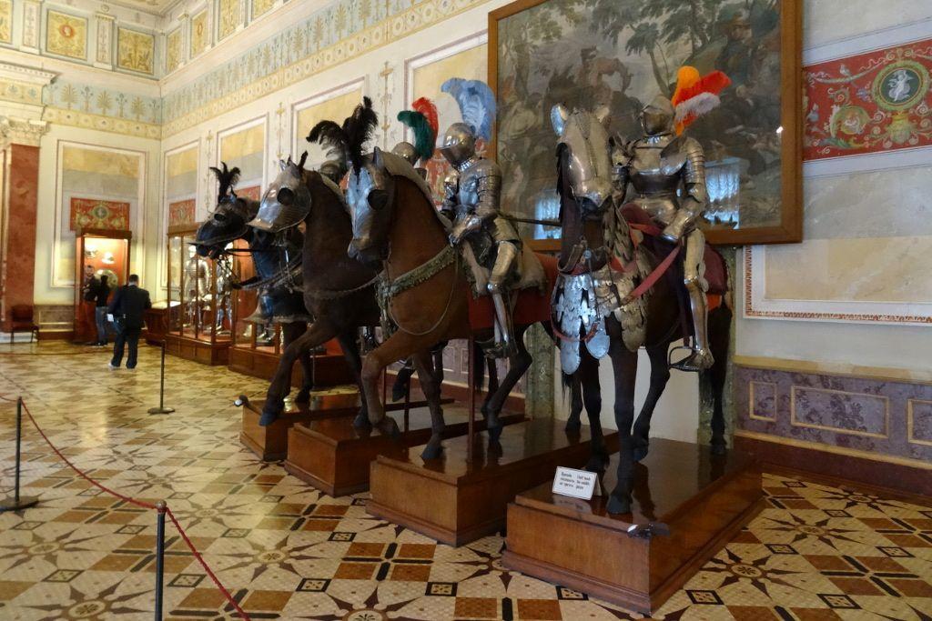 Reiter Statuen in der Eremitage in Sankt Petersburg