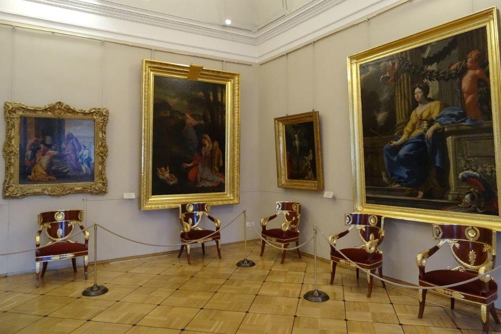 Wandgemälde in der Eremitage in Sankt Petersburg