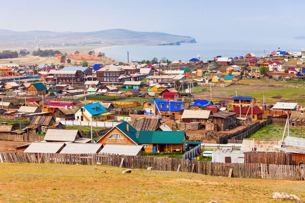 Das Dorf Chuchir auf der Insel Olchon