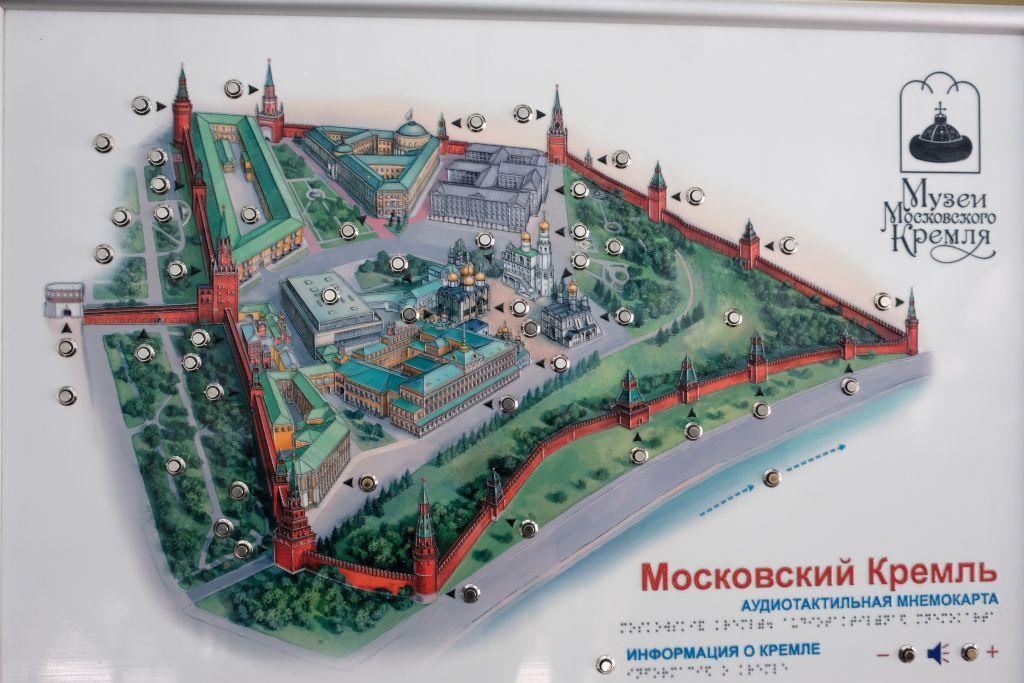 Übersichtsplan vom Kreml