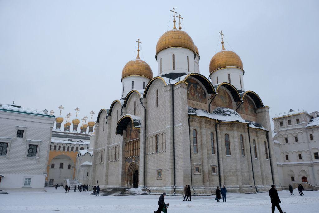 Mariä-Entschlafens-Kathedrale im Kreml in Moskau