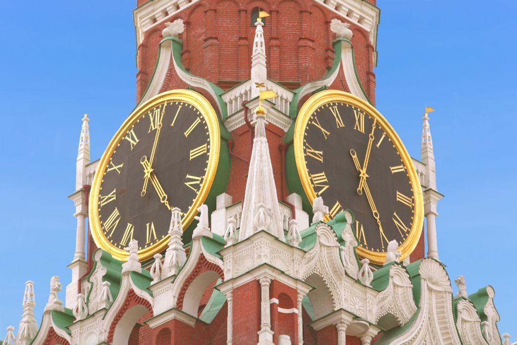 Turmuhren des Erlöserturms des Moskauer Kreml