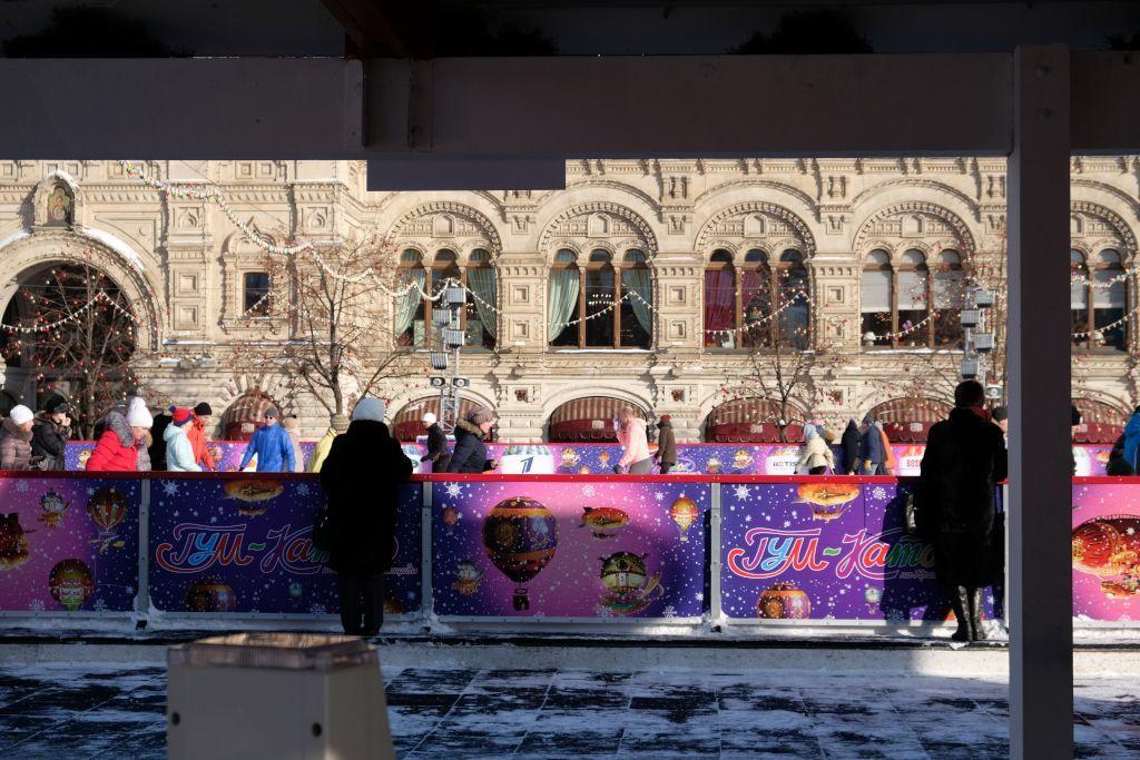 Eislaufen auf dem Roten Platz