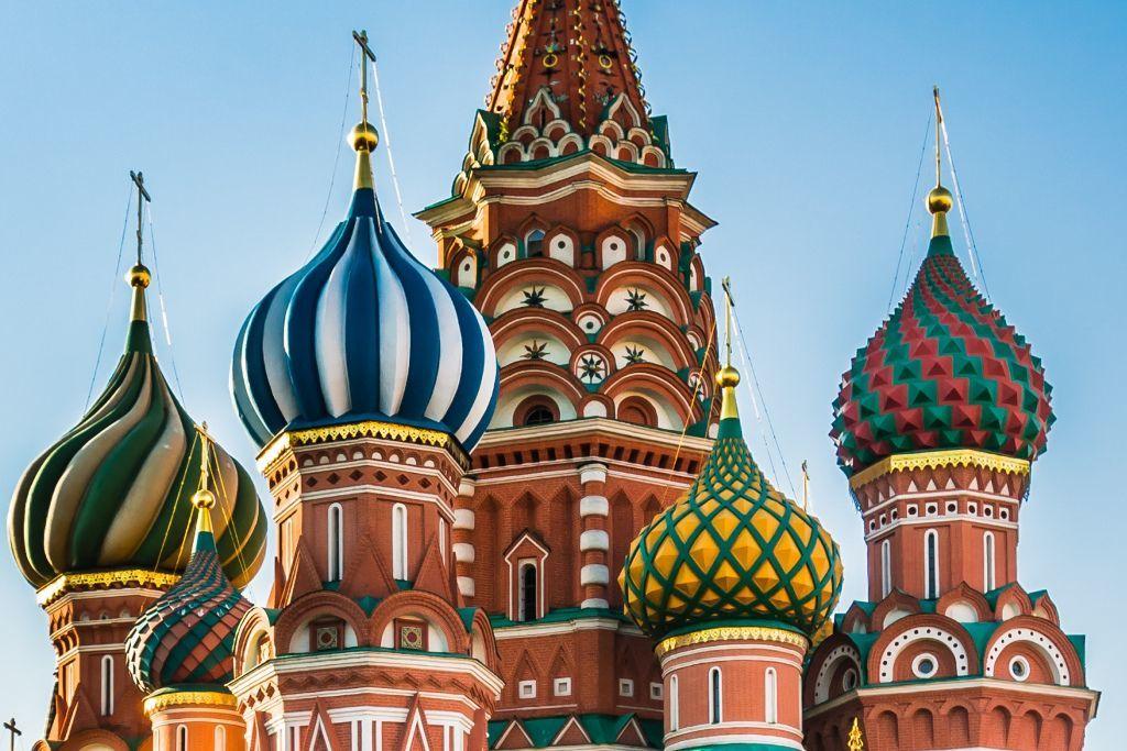 Türme der Basilius-Kathedrale in Moskau