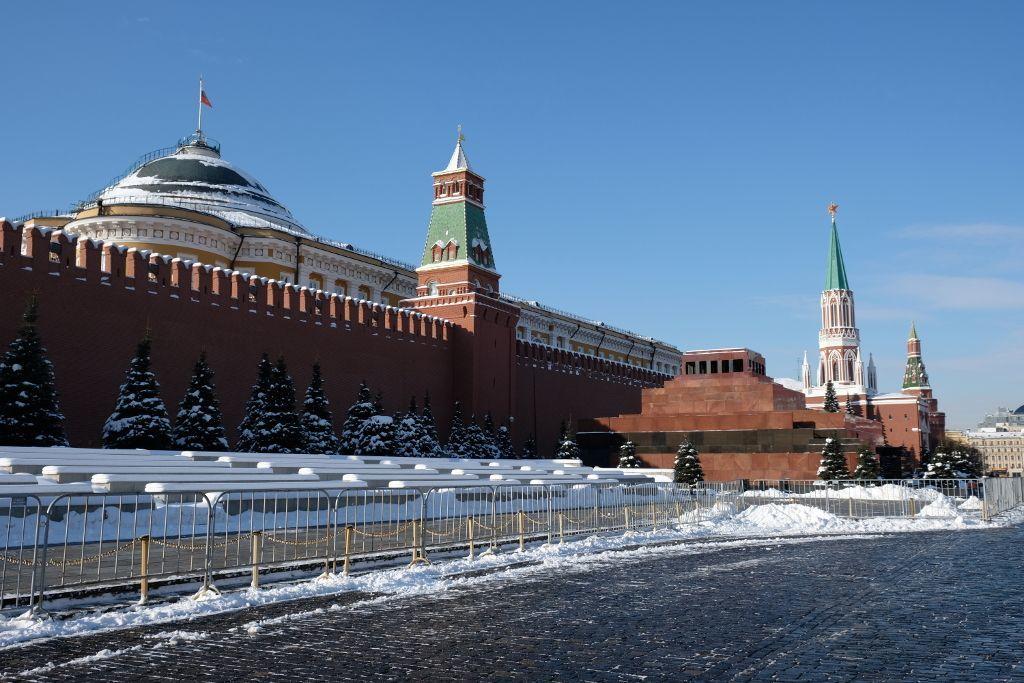 Kremlmauer und Lenin Mausoleum