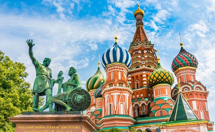 Basilius Kathedrale auf dem Roten Platz in Moskau
