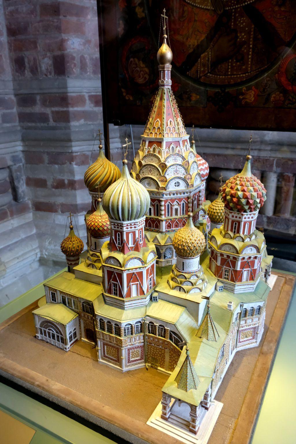 Kleines Modell der Basilius-Kathedrale