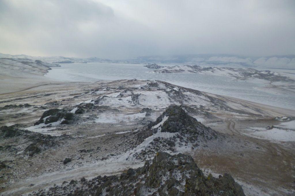 Blick auf den Baikalsee vom Thron Aussichtspunkt