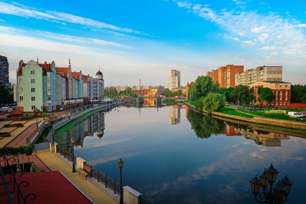 Blick auf Kaliningrad, die russische Exklave