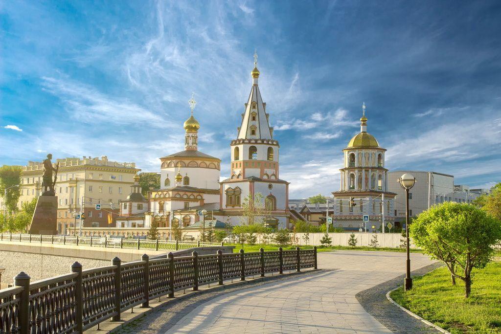 Die Offenbarungs-Kathedrale in Irkutsk