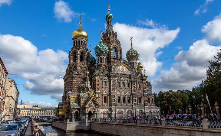 Auferstehungskirche am Gribojedow-Kanal in Sankt Petersburg