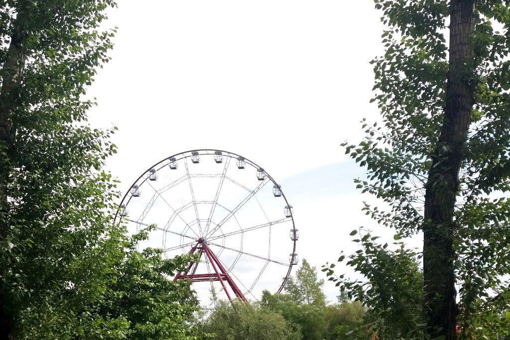 Riesenrad auf der Insel der Jugend in Irkutsk