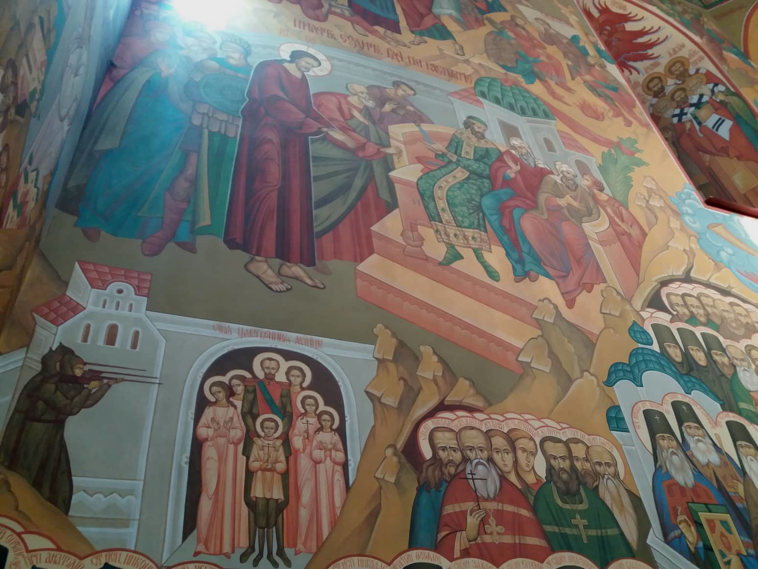 Wandbild in einer russisch-orthodoxen Kirche