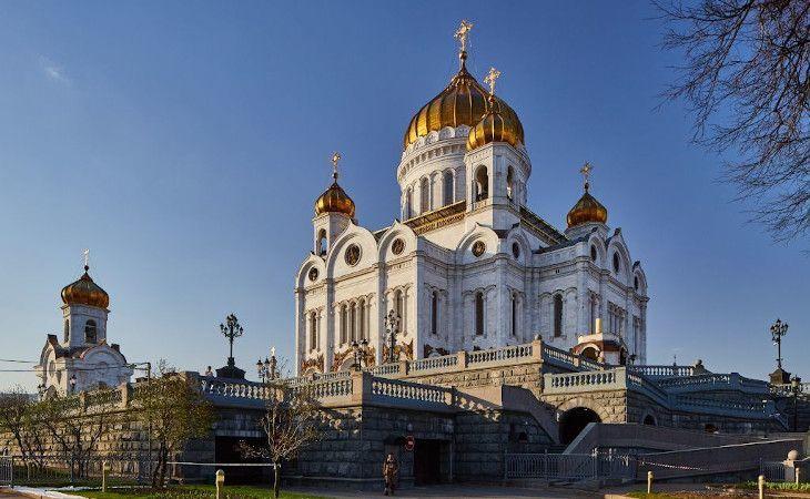 Christ-Erlöser-Kathedrale von Moskau im Sommer