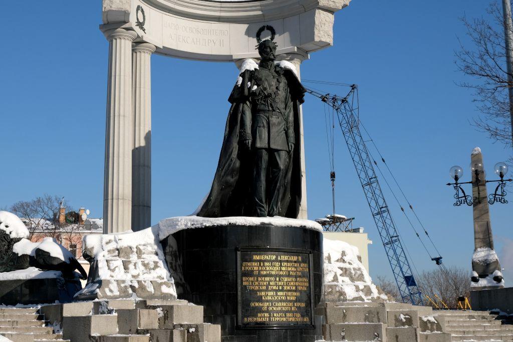 Denkmal für Zar Alexander II. in Moskau